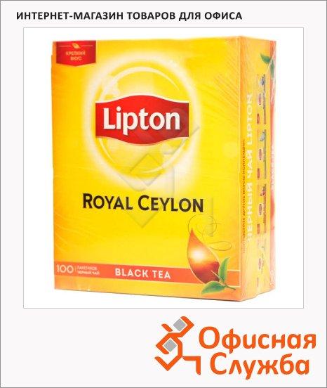 фото: Чай Lipton Royal Ceylon черный, 100 пакетиков