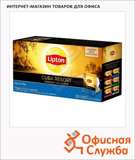 Чай Lipton Discovery Collection Cuba Resort, черный, 25 пакетиков