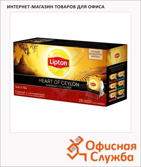 Чай Lipton Discovery Collection Heart of Ceylon, черный, 25 пакетиков