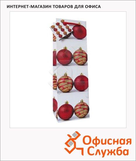 Пакет подарочный новогодний 10x9x33см, EUX/140503