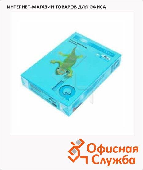 Цветная бумага для принтера Iq Color светло-синяя, А4, 500 листов, 80г/м2, AB48