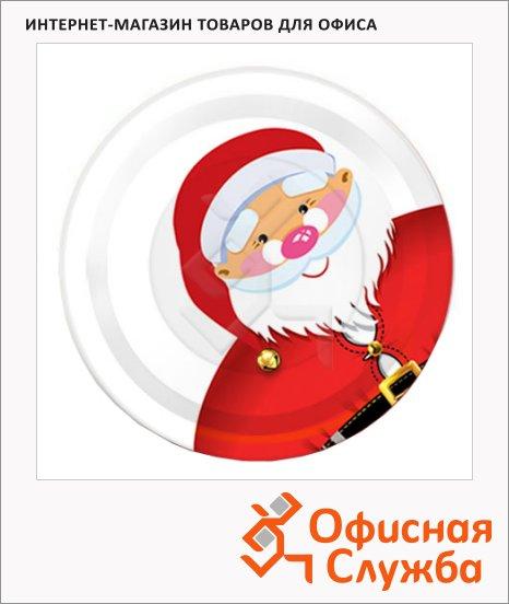 Тарелка одноразовая Papstar Дед мороз, d=23см, 6шт/уп