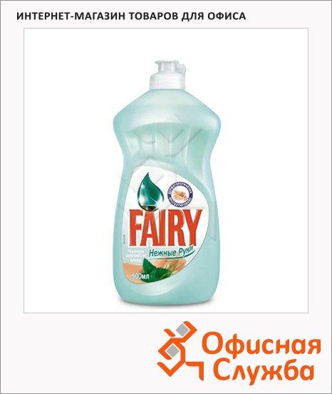 Средство для мытья посуды Fairy Нежные руки 0.5л, чайное дерево/ мята