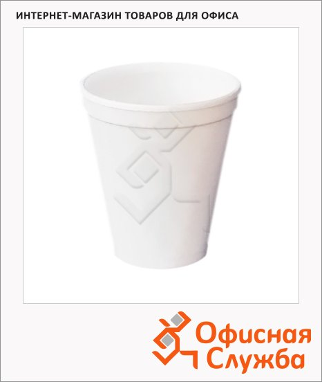 Стакан одноразовый Клуб Комфорта 250мл, белый, 27шт/уп