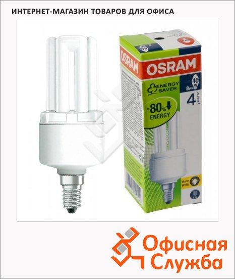 Лампа энергосберегающая Osram Dstar 8Вт, E14, теплый свет