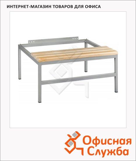 Скамья-подставка Практик LS-41, металл. каркас, сосна, 300х1130х770мм