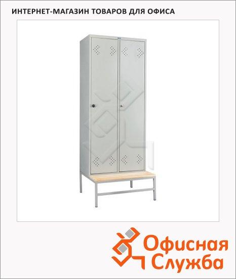 Скамья-подставка Практик LS-21-80, 300х813х770мм, металл. каркас, сосна