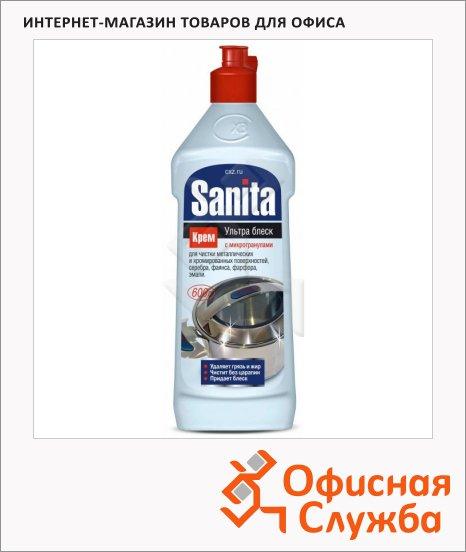фото: Чистящее средство Sanita Ультра Блеск 600мл с микрогранулами, крем