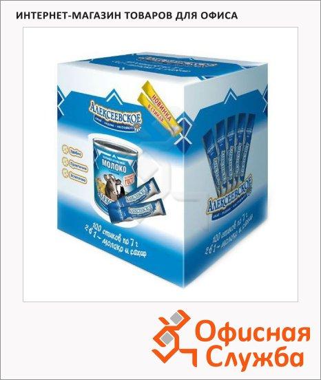 Молоко сгущенное Алексеевское 8.5% 100шт х 7г, в стиках