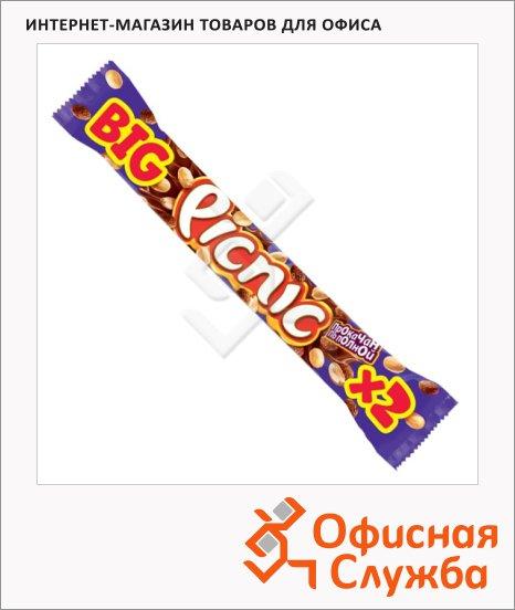 Батончик шоколадный Picnic с арахисом и карамелью, 76г