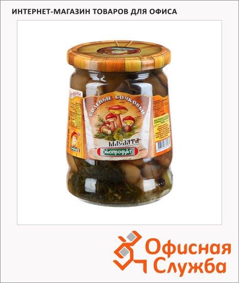 Грибные консервы Экопродукт грибной бочонок соленый, 540г
