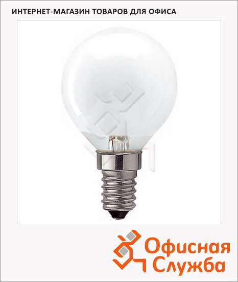 Лампа накаливания Osram 60Вт, E14, стандартная матовая, 10шт/уп