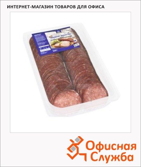 Колбаса Horeca варено-копченая сервелат зернистый, 1кг, нарезка
