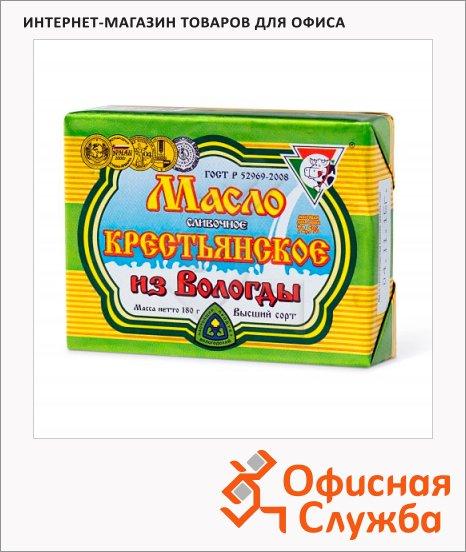 фото: Масло сливочное Из Вологды Крестьянское 72.5% 180г