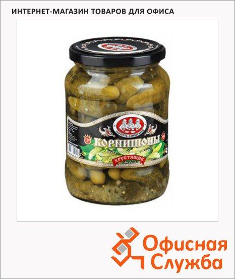 Огурцы Скатерть-Самобранка корнишоны маринованные, 720мл