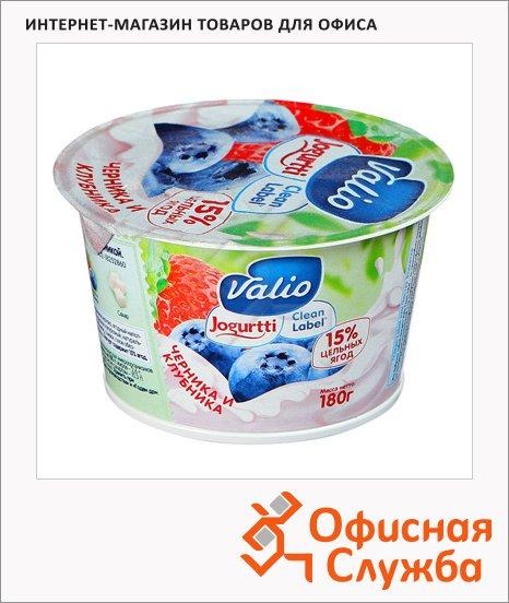 фото: Йогурт Valio Clean Label черника-клубника 2.6%, 180г