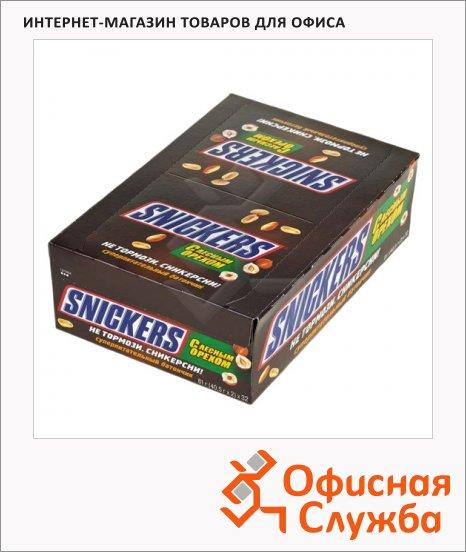 фото: Батончик шоколадный Snickers с лесным орехом 32шт х 81г