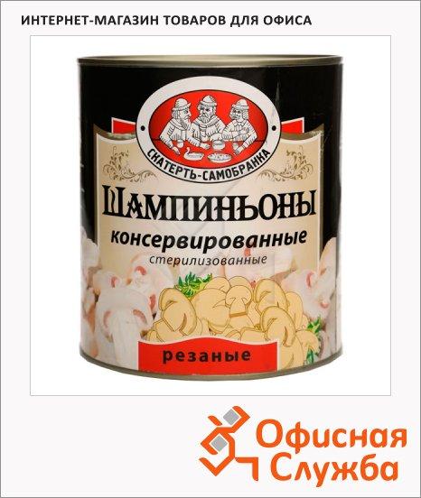 Грибные консервы Скатерть Самобранка шампиньоны резаные, 3.1л