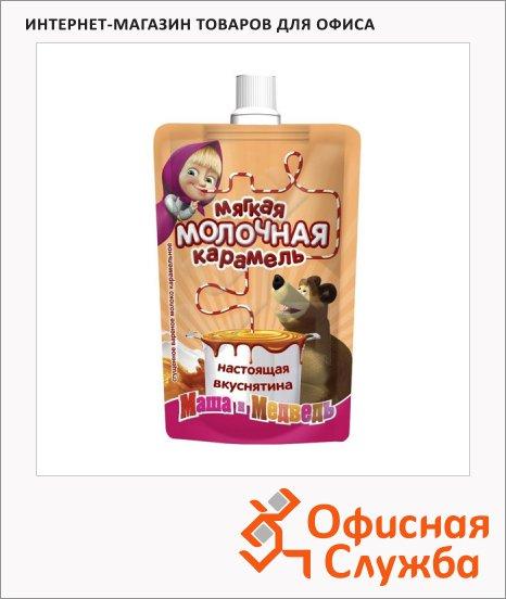 Молоко сгущенное Маша И Медведь 8.5% 270г, мягкая упаковка, с карамелью