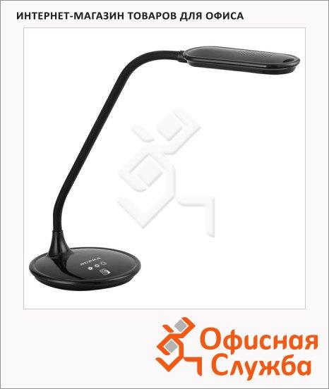 Светильник настольный Supra SL-TL301 черный, на подставке, светодиодный