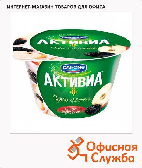 Йогурт Активиа яблоко и чернослив, 2.4%, 210г