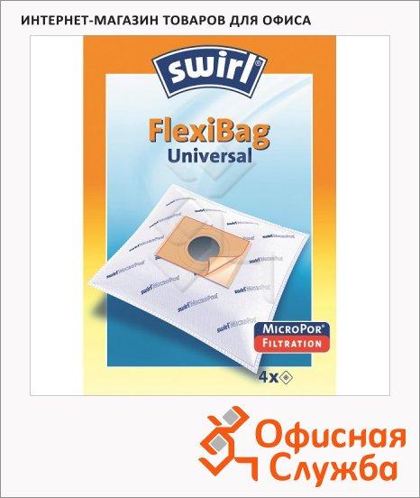 Пылесборник для пылесосов Swirl FlexiBag MicroPor 3шт, универсальный
