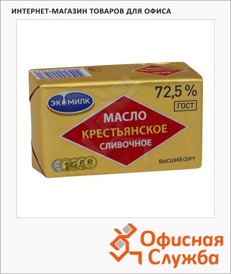 фото: Масло сливочное Экомилк Крестьянское 72.5% 180г