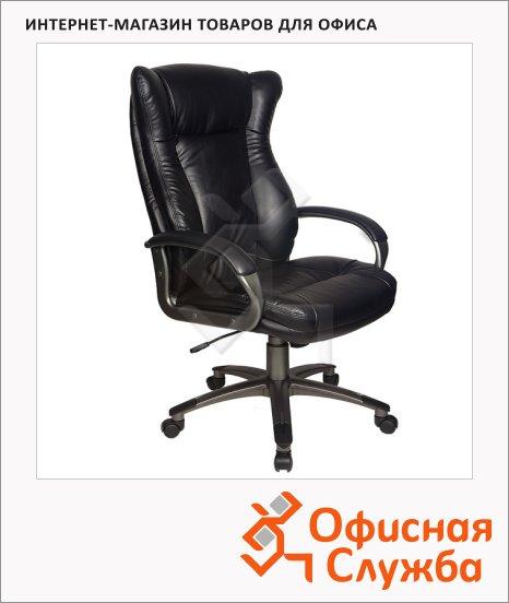 Кресло руководителя Бюрократ CH-879DG иск. кожа, крестовина пластик, черная