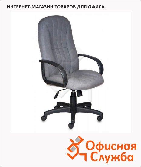 Кресло руководителя Бюрократ T-898AXSN ткань, серая, крестовина пластик