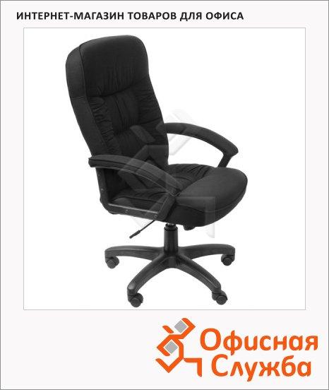 фото: Кресло руководителя Бюрократ T-9908AXSN ткань крестовина пластик, черная