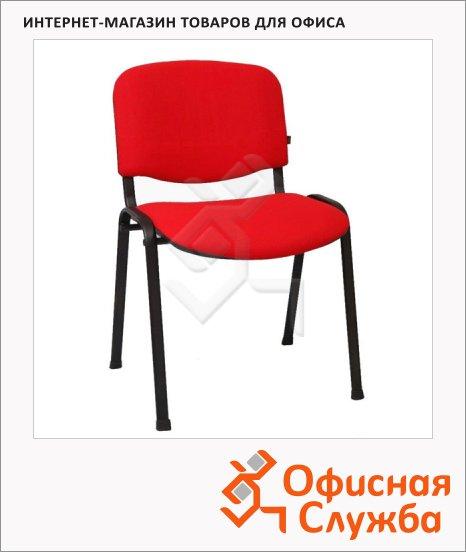 фото: Стул посетителя Изо ткань на ножках, красная
