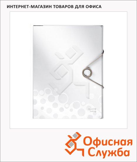 Пластиковая папка на резинке Leitz Bebop белая, A4, до 150 листов, 45630001