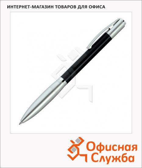 Ручка шариковая Lerche ScriNova Avanti черная, корпус черный с матовым серебром