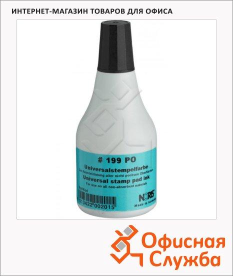 Штемпельная краска на спиртовой основе Noris 250 мл, универсальная, черная, 199POD