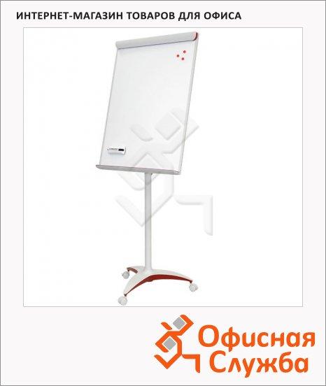 Флипчарт магнитный маркерный 2x3 Mobilechart Red 70х100см, белый, мобильный