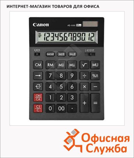 Калькулятор настольный Canon AS 444 HB черный, 12 разрядов