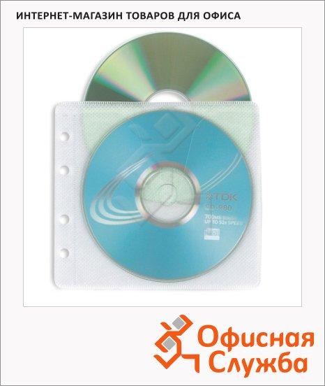 фото: Конверт для CD/DVD Profioffice MF-2 прозрачный на 2 диска, 25шт/уп