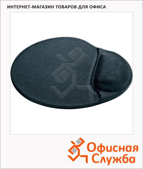 фото: Коврик для мыши черный с гелевой подкладкой