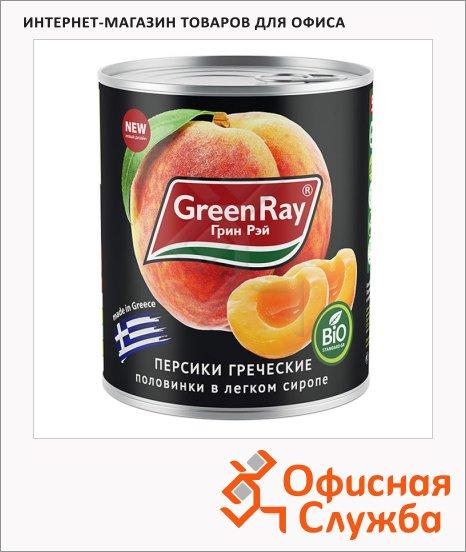 Консервированные фрукты Green Ray персики в сиропе, 850г