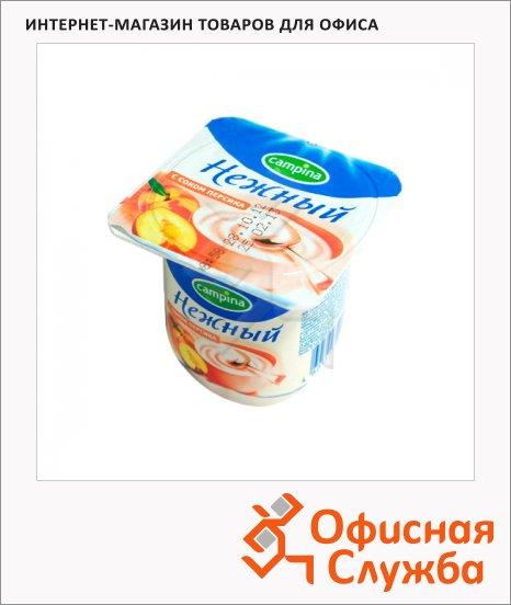 Йогурт Нежный с соком персика, 1.2%, 100г