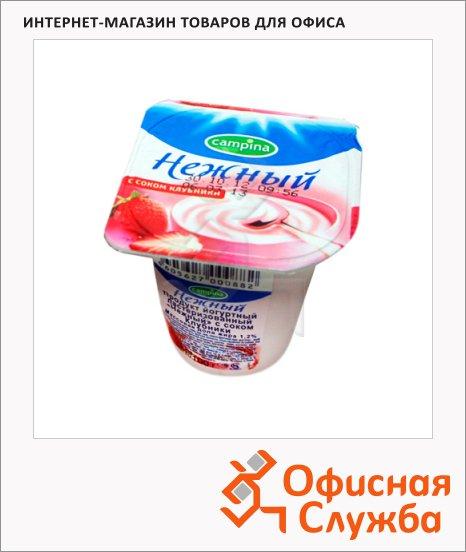 фото: Йогурт Нежный с соком клубники 1.2%, 100г