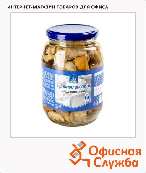 Грибные консервы Horeca грибной бочонок маринованный, 930г
