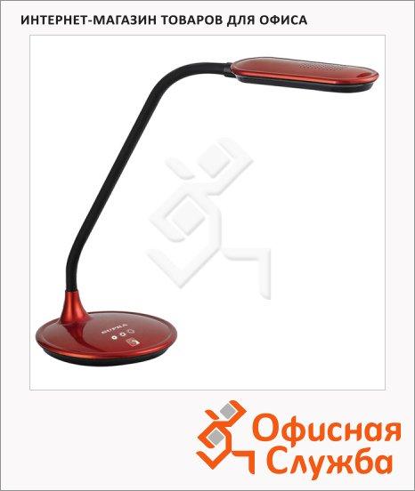фото: Светильник настольный Supra SL-TL301 красный на подставке, светодиодный, сенсорное управление