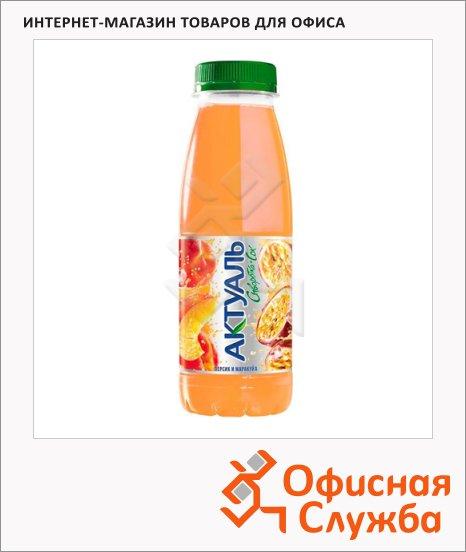 Молочносоковый напиток Актуаль на сыворотке персик-маракуйя, 330г