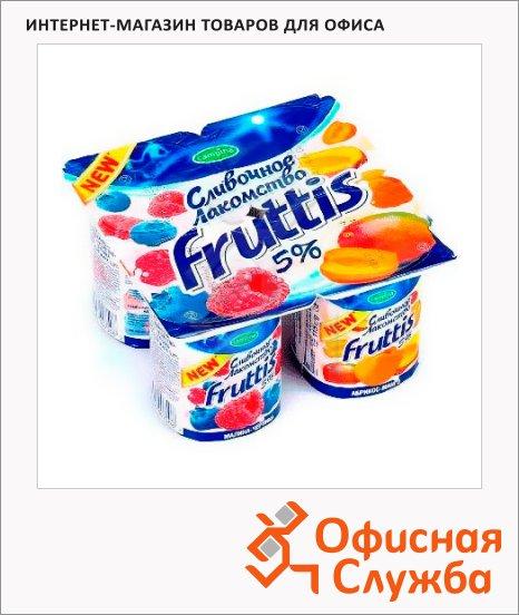 фото: Йогурт Fruttis Сливочное лакомство малина-черника-абрикос-манго 5%, 115г