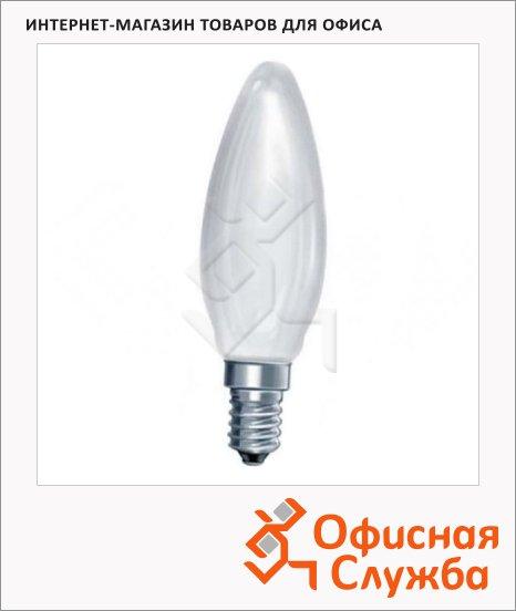 Лампа накаливания Osram 60Вт, E14, свеча матовая, 10шт/уп