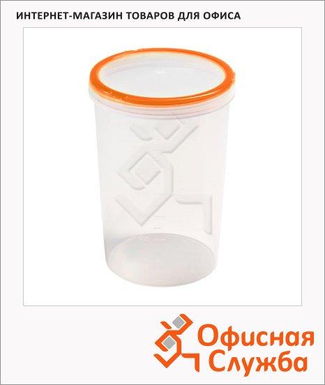 Банка для сыпучих продуктов Phibo Винтаж 1.5л, пластик, с закручивающейся крышкой