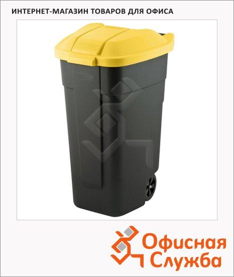 фото: Контейнер для мусора на колесах черный 110л