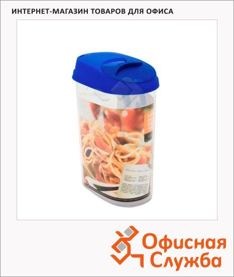 фото: Банка для сыпучих продуктов Plastic Centre Optima 1.6л пластик, с плотно прилегающей крышкой с дозатором