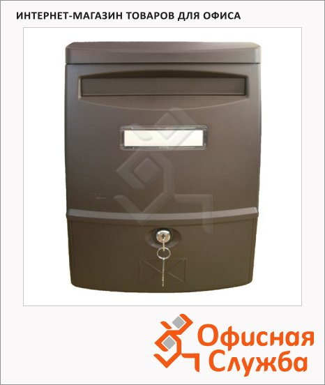 фото: Почтовый ящик Shyn LTP 02 пластик коричневый, 383х272х113мм